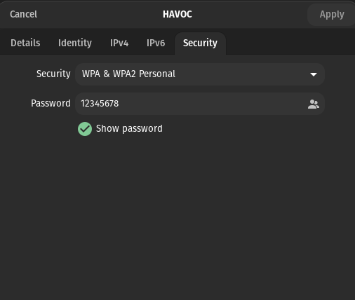 click on security tab
