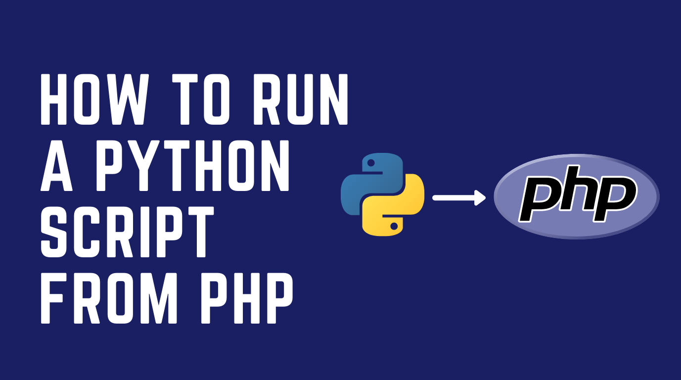 How to run python script from php file