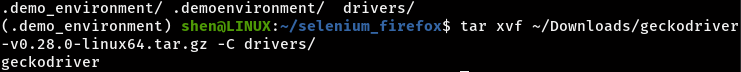 Extract tar file to driver directory