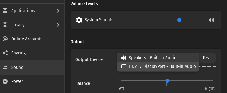 No Sound Output From HDMI select the HDMI