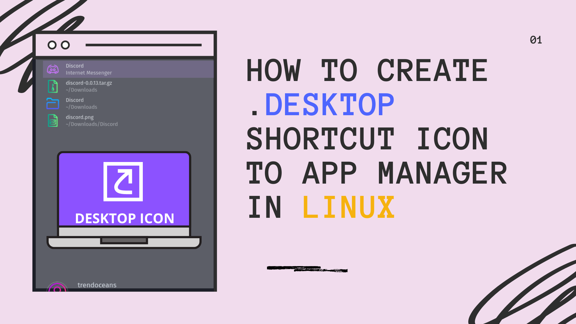 How to create .desktop shortcut Icon to App Manager in Linux