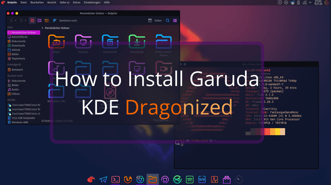 How to Install Garuda KDE Dragonized