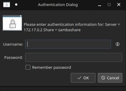 Login using username and password