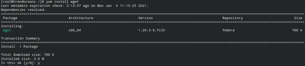Install Wget in CentOS, RHEL and Fedora