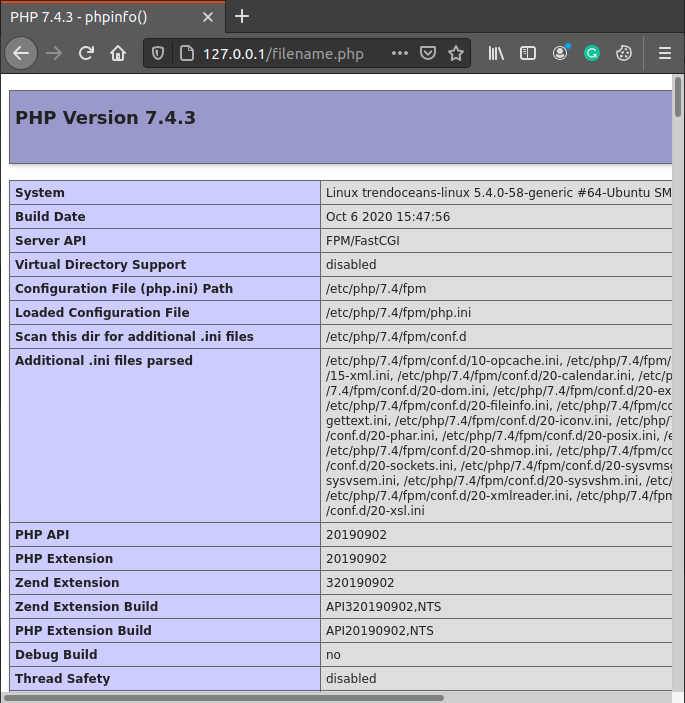 Php Infor check