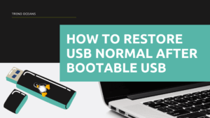 How to restore USB normal after bootable USB