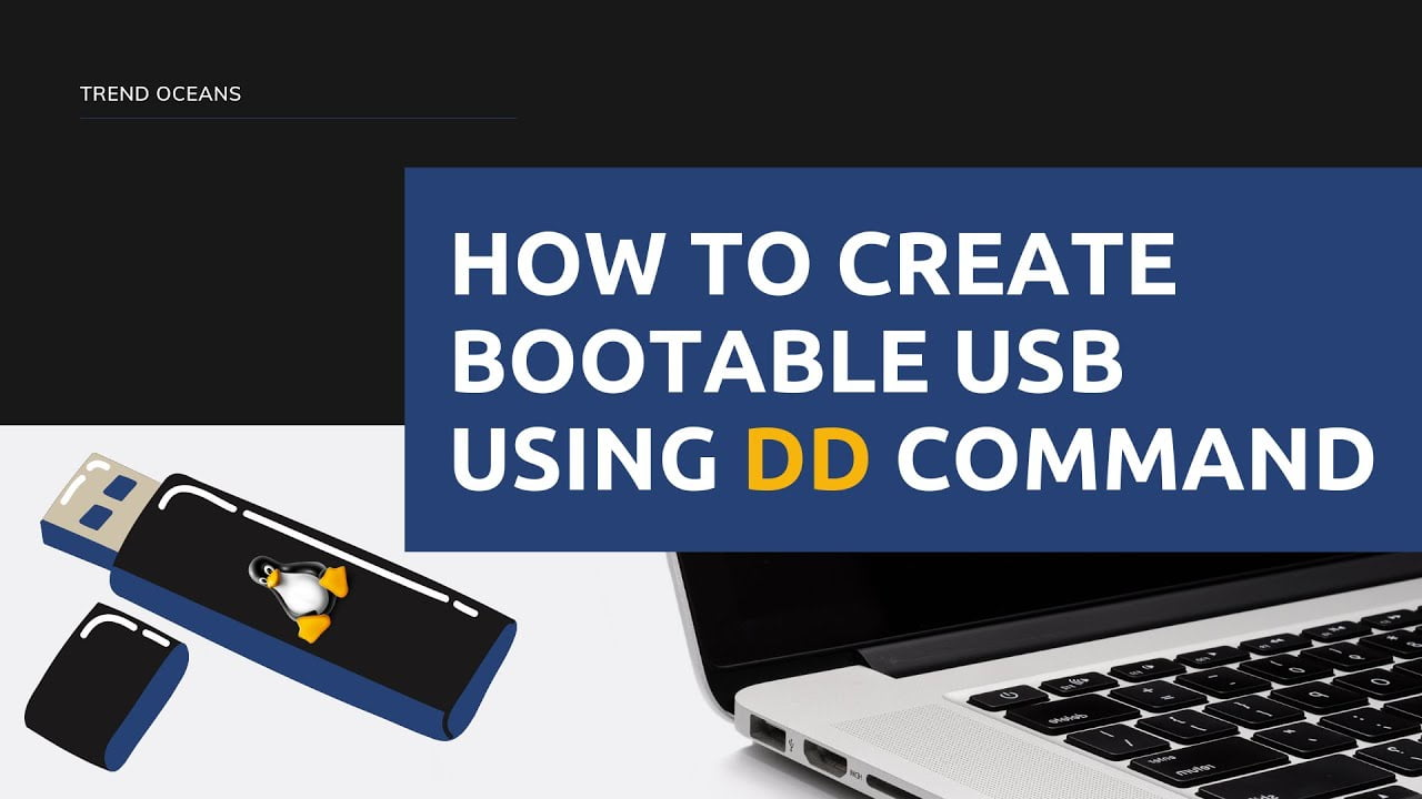 How to create bootable usb drive using dd command