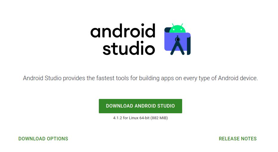 Click on Download Android Studio