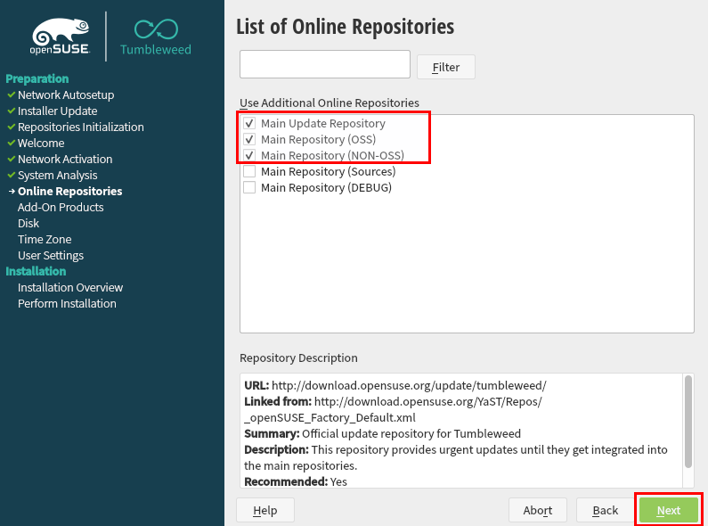 List of Online Repositories