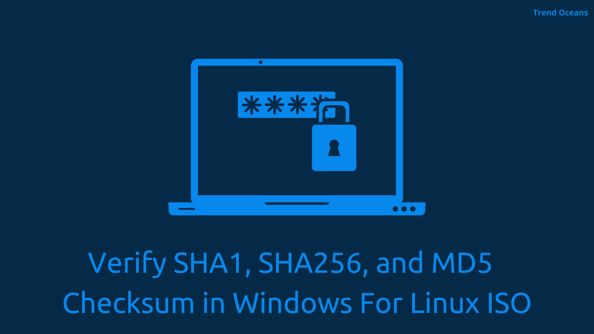 Verify SHA256 SHA1 MD5 checksum in windows for Linux OS