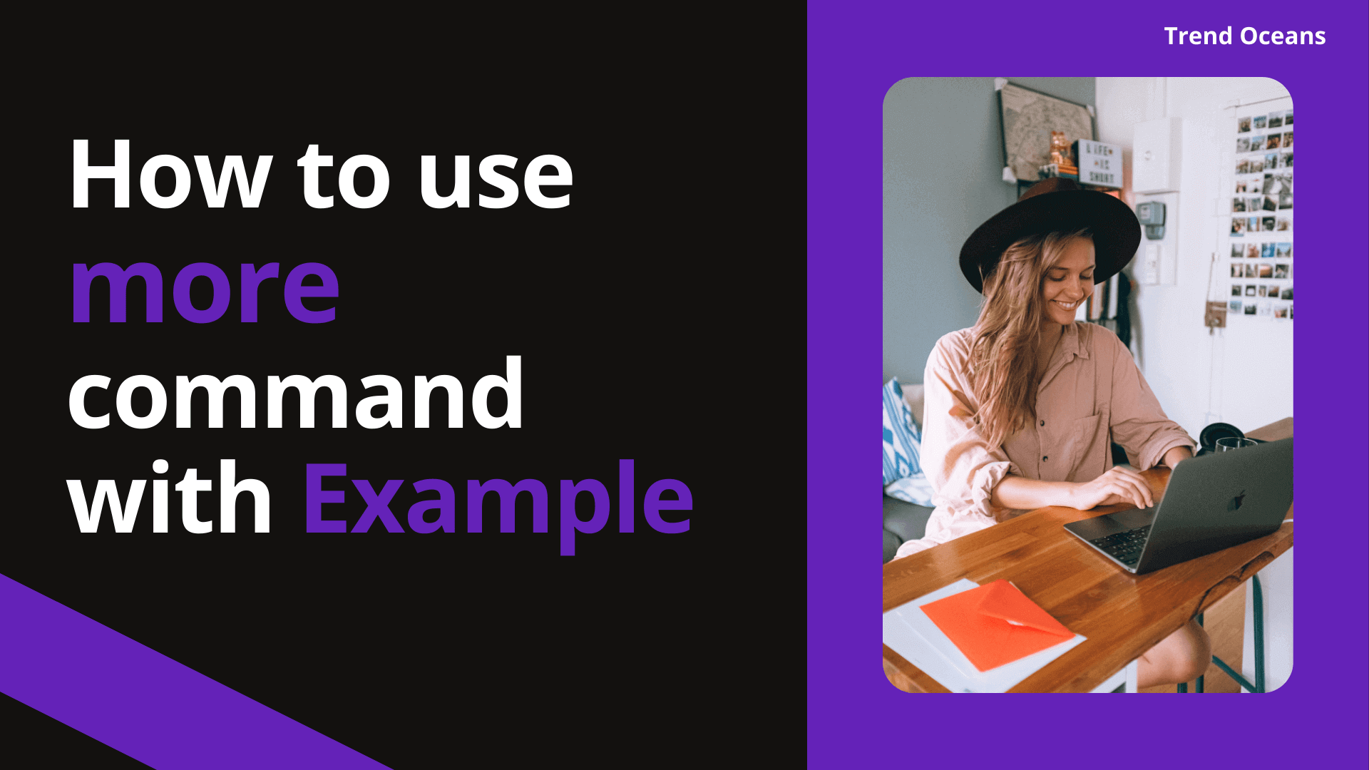 How to use more command